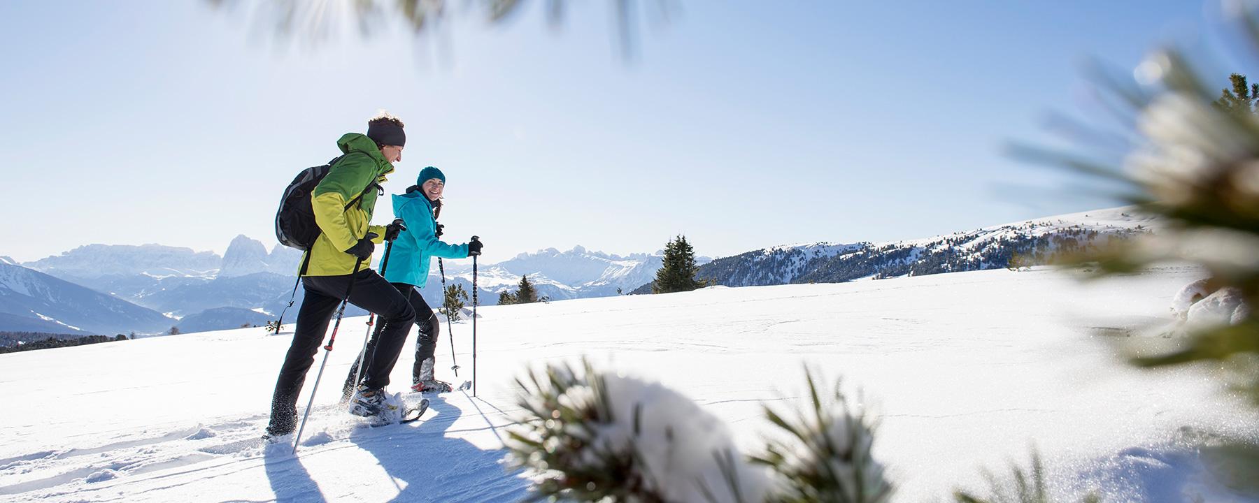 Winterwandern auf der Villanderer Alm in Südtirol