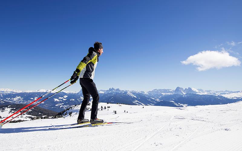 Langlaufen auf der Villanderer Alm in Südtirol